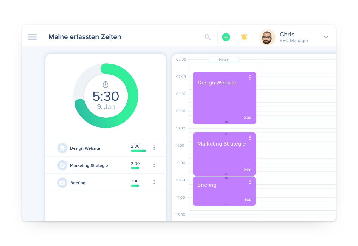 awork kann mehr als Toogl und kombiniert Projektmanagement mit Zeiterfassung
