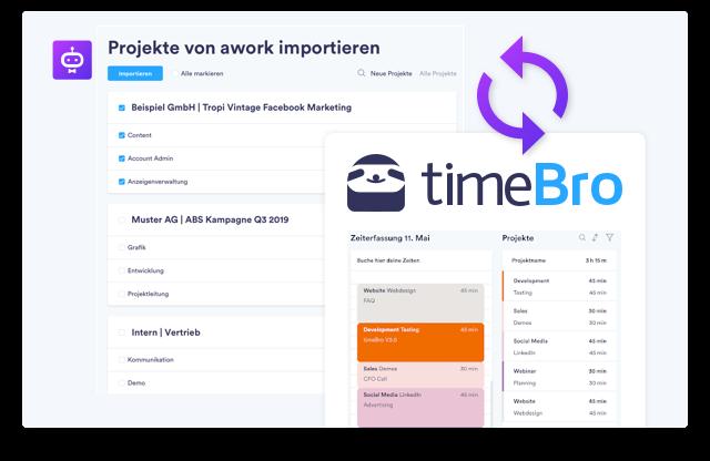 TimeBro und awork