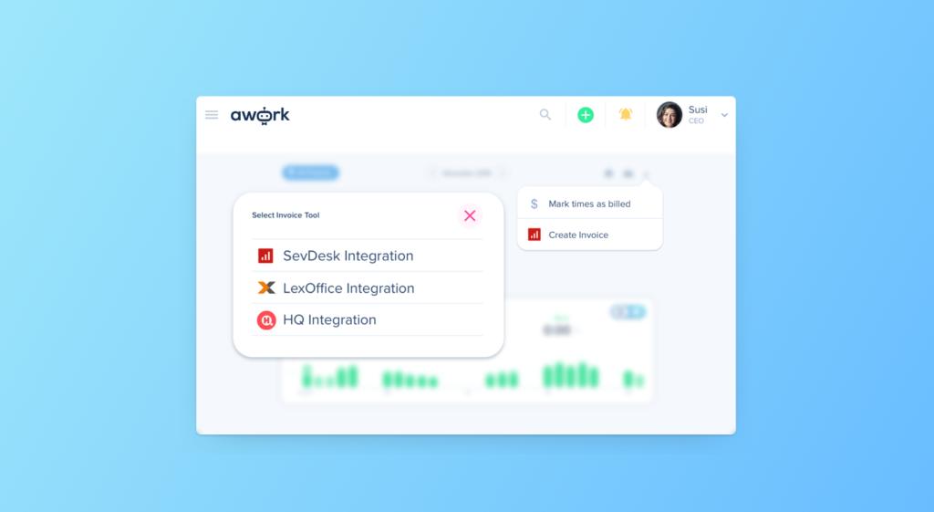 Jetzt neu: Direkte Integration von Rechnungs-Tools